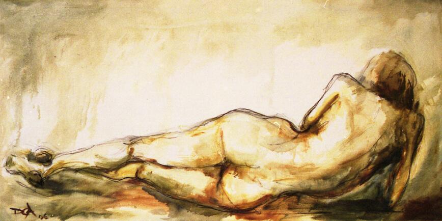 Desnudo.-180x90cms. Leo-sobre-lienzo
